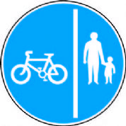 Route For Pedal Cycles And Pedestrians Only Segregated